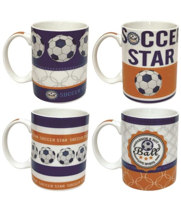 ceramic soccer mug 12oz/48s