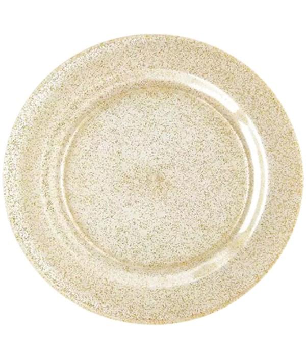"10.5""/3ct glitter plate 48s"