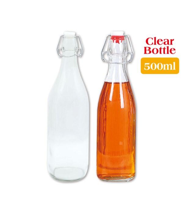 clear glass bottle 500ml/24s