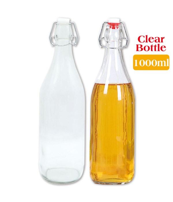 clear glass bottle 1000ml/24s