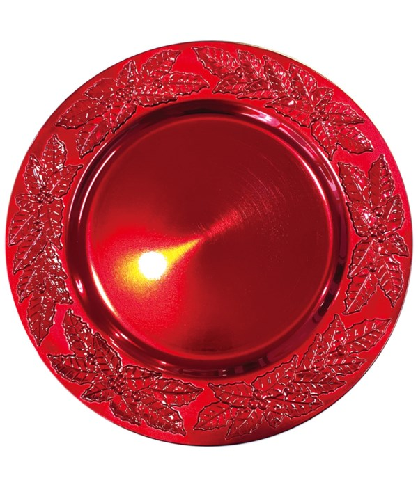 """13"""" charger plate red 24s"""