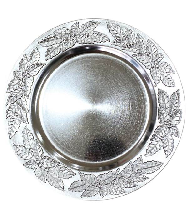 """13"""" charger plate silver 24s"""