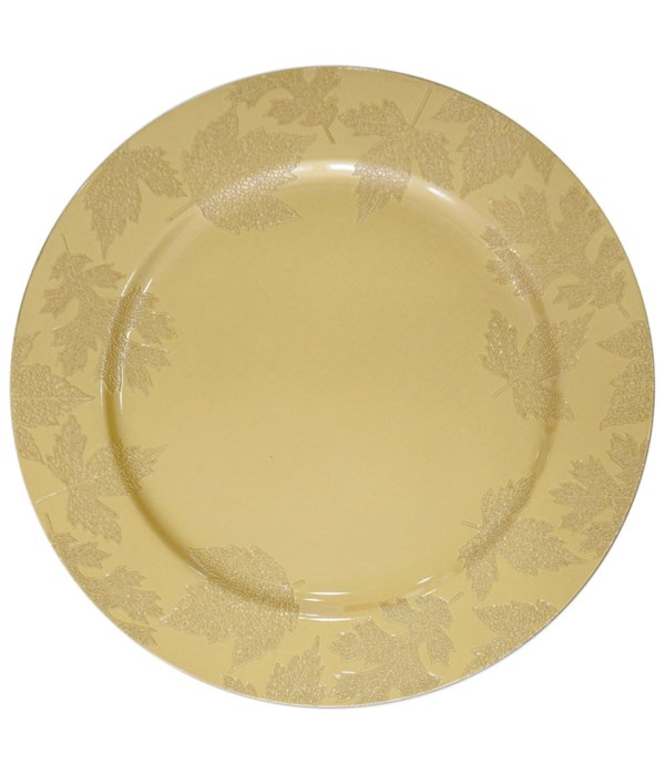 """13""""charger plate gold 24s"""