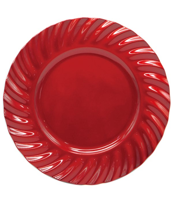 """13""""charger plate red 24s"""