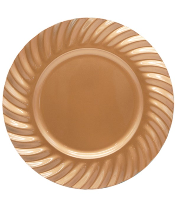 """13""""charger plate rose gold 24s"""