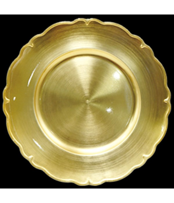 """13"""" charger plate gold 24s"""