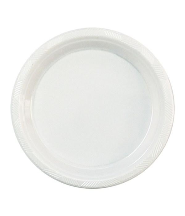 """7""""/50ct white plate 12s"""