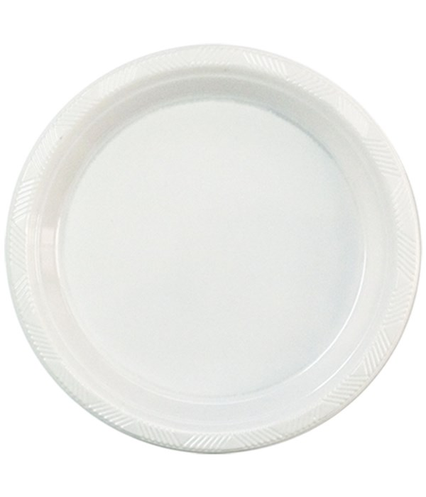 """9""""/50ct plate white 12s"""