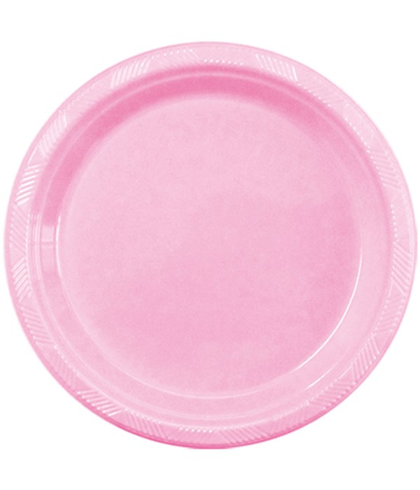 """9""""/10ct pls plate bb-pink 36s"""