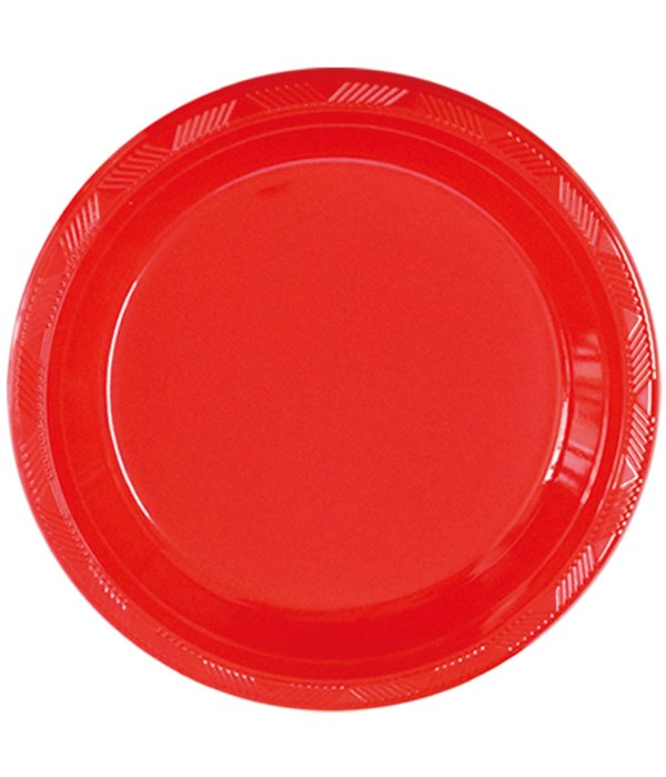 """9""""/10ct pls plate red 36s"""