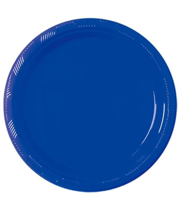 "9""/10ct pls plate dk-blue 36s"
