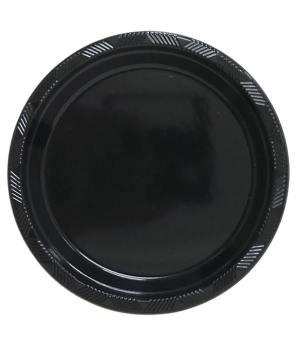 "9""/10ct pls plate black 36s"
