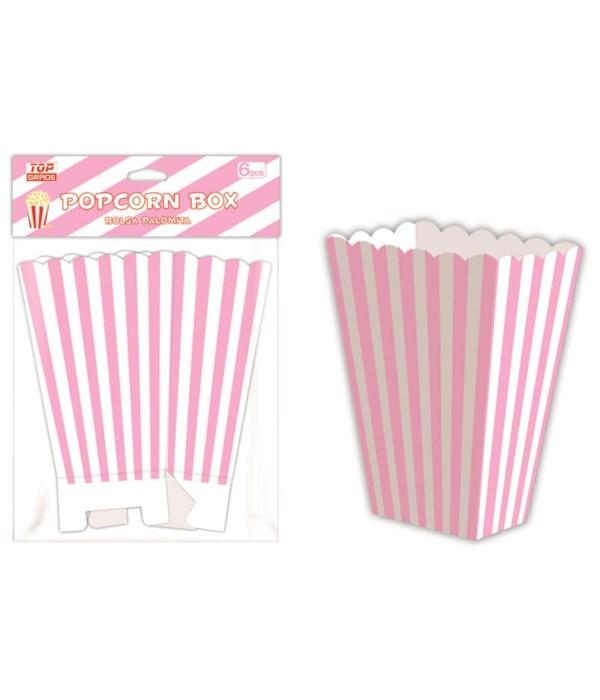 6ct popcorn box bb-pink 12/144