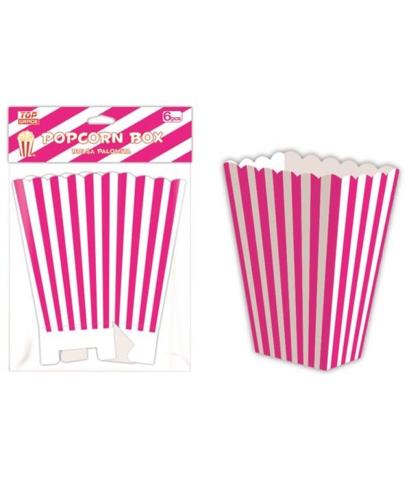 6ct popcorn box hotpink 12/144