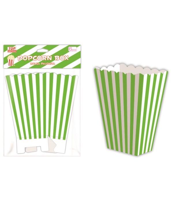 6ct popcorn box lime 12/144s