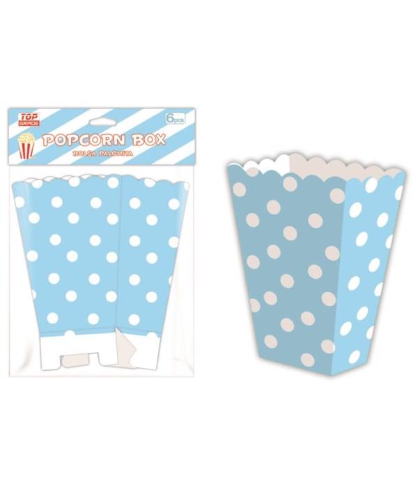6ct popcorn box bb-blue 12/144