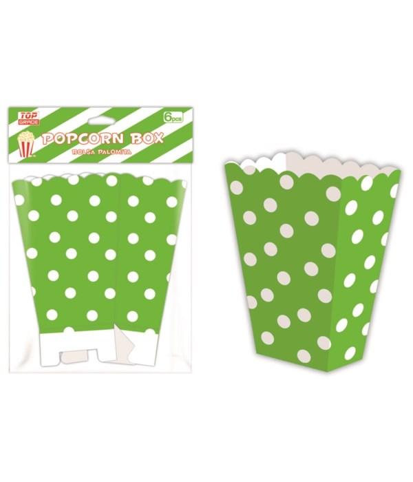 6ct popcorn box lime 12/144