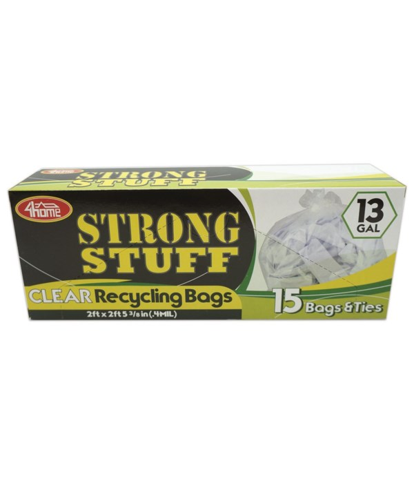 clear recycle 13gl/15ct 48s