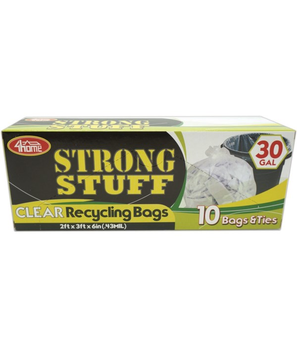 clear recycle 30gl/10ct 48s