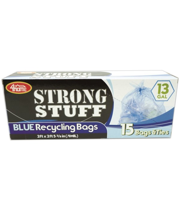 blue recycle bag 13gl/15ct 48s