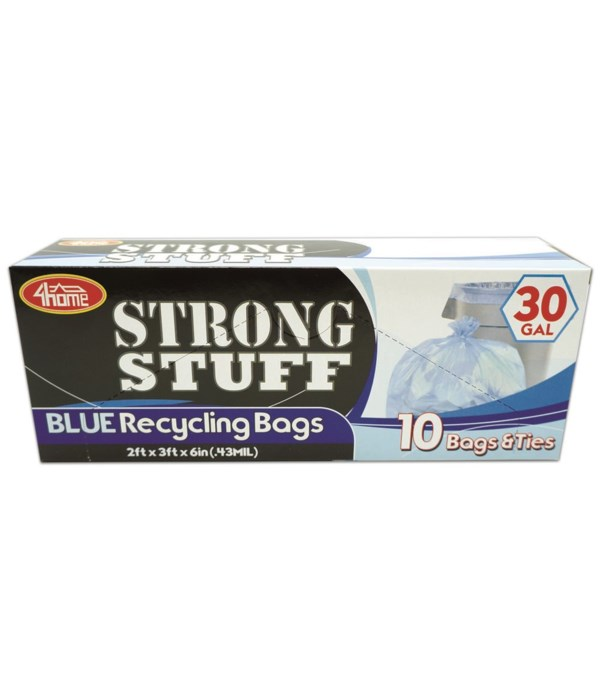 blue recycle bag 30gl/10ct 48s
