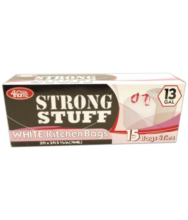 white kitchen bag 13gl/15ct 48
