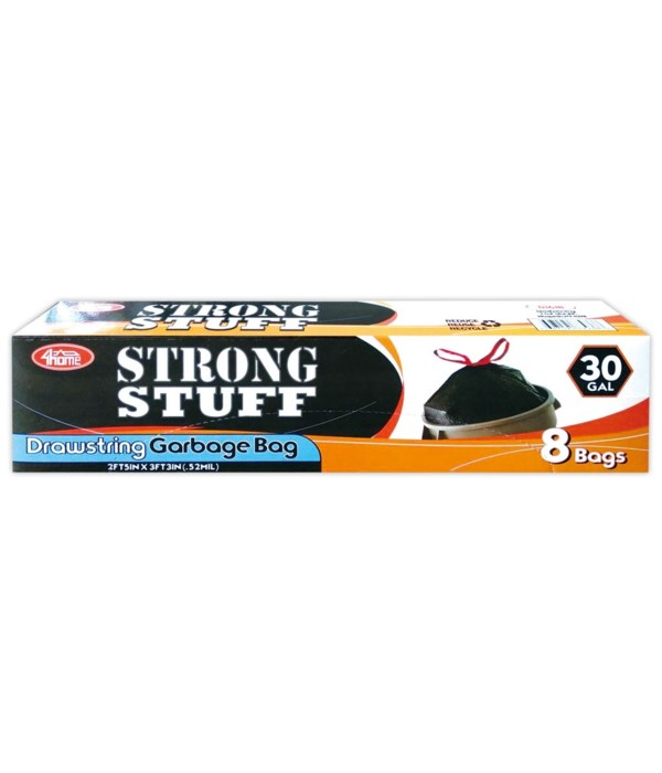 black kitchen bags 30gal/8ct