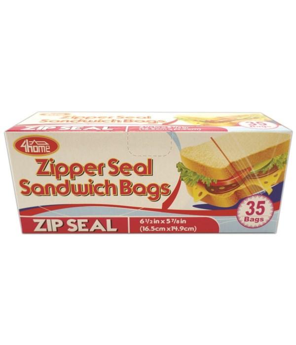 zipper sandwich bag 35ct/48s