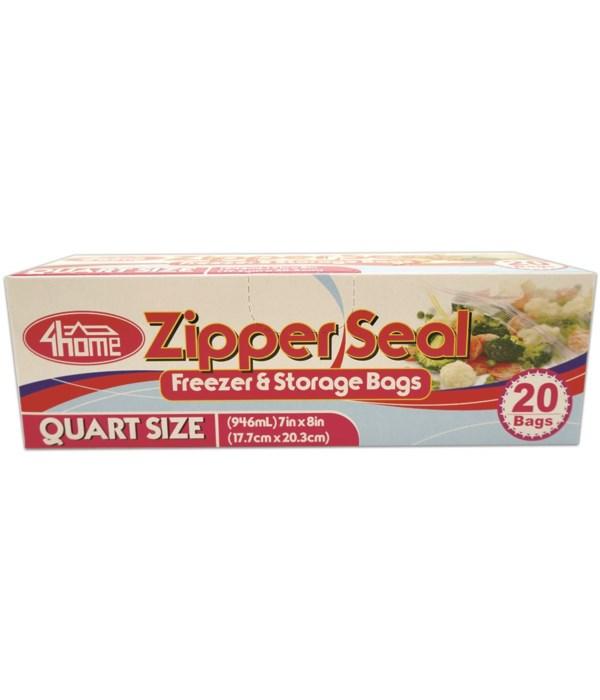 quart size zipper bag 20ct/48s