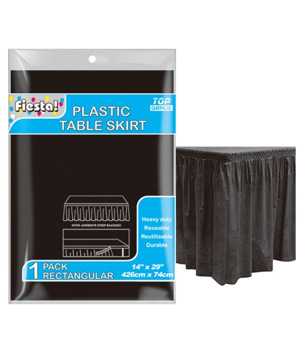 """table skirt black 29x168""""/36s"""