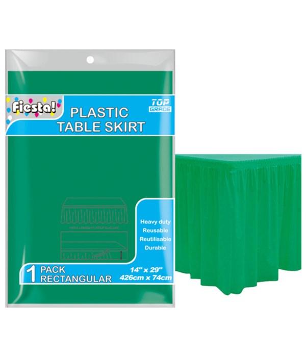 "table skirt green 29x168""/36s"