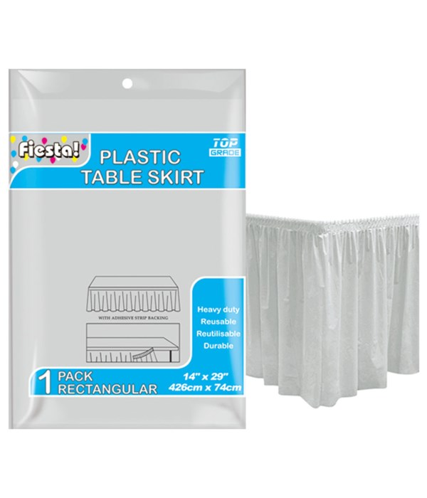 """table skirt silver 29x168""""/36s"""