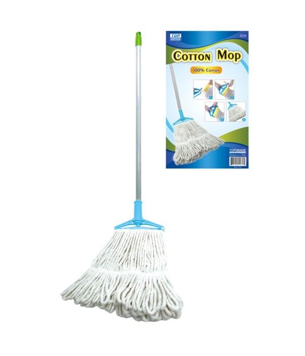 cotton mop w/metal hdl 24s