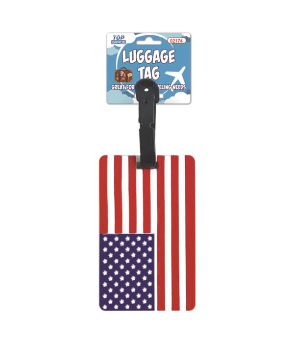 luggage tag USA flag 12/300s