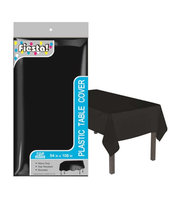 """table cover blk 54x108""""/48s"""