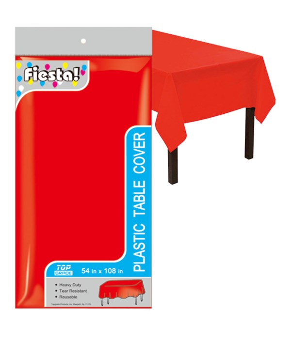 """table cover red 54x108""""/48s"""
