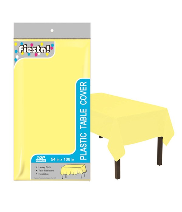 """table cover yellow 54x108""""/48s"""