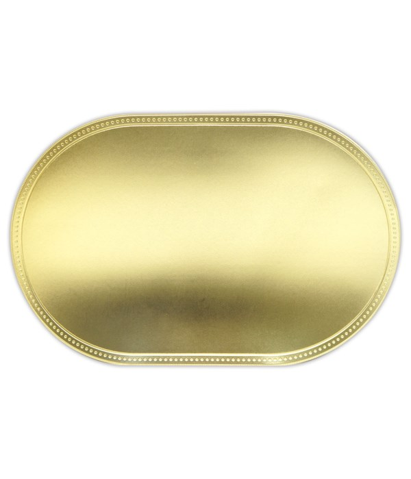 placemat oval gold 12/240s