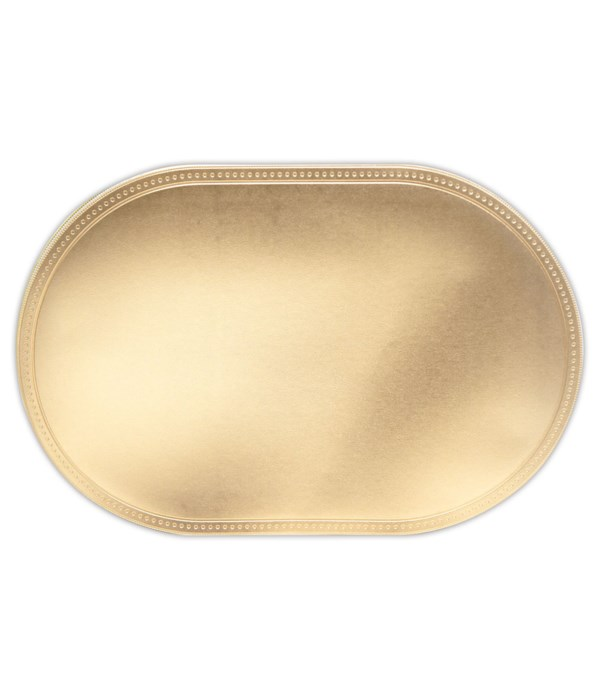 placemat oval rose gold12/240