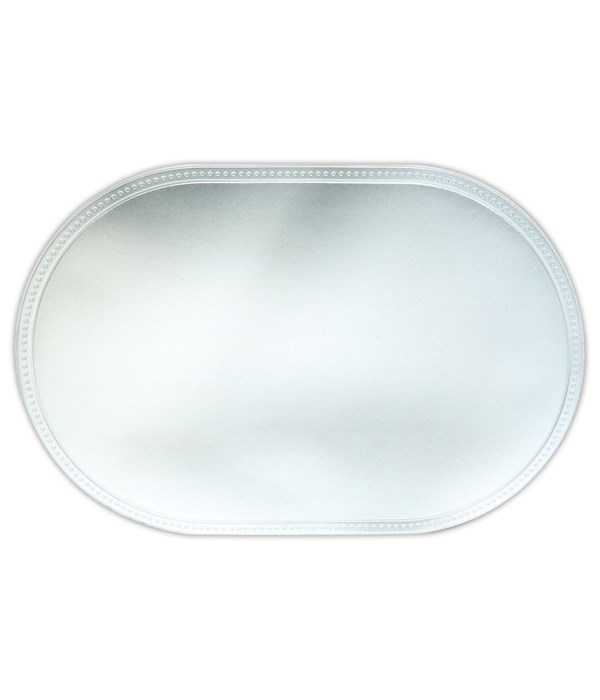placemat oval silver 12/240s