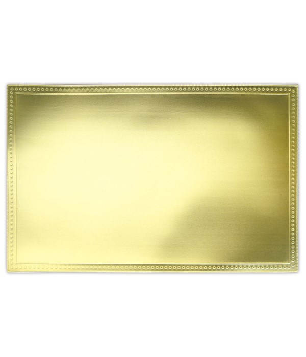 placemat SQ gold 12/240s