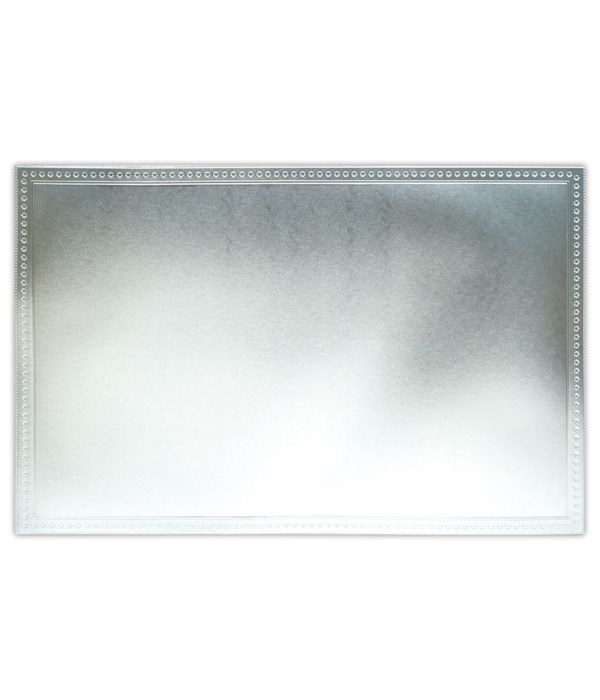 placemat SQ silver 12/240s