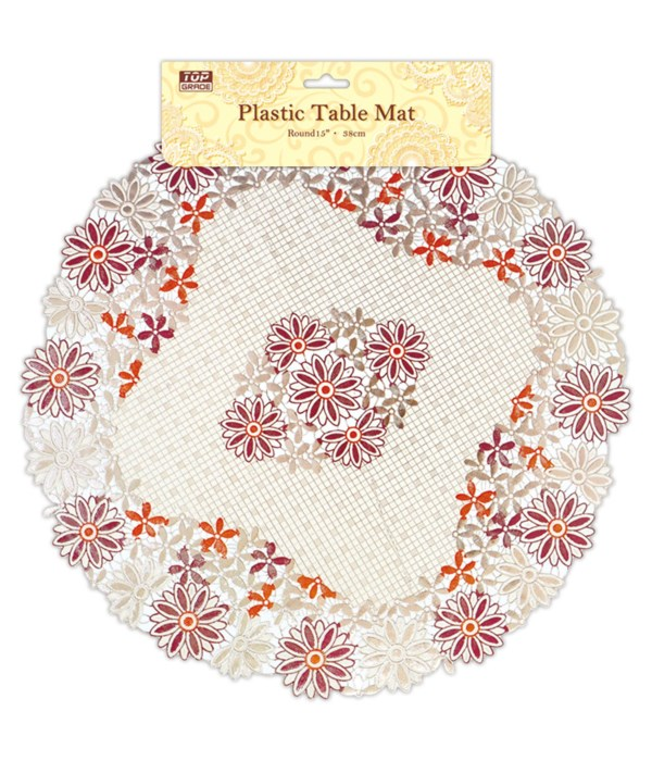 """15"""" round placemat 12/120s"""