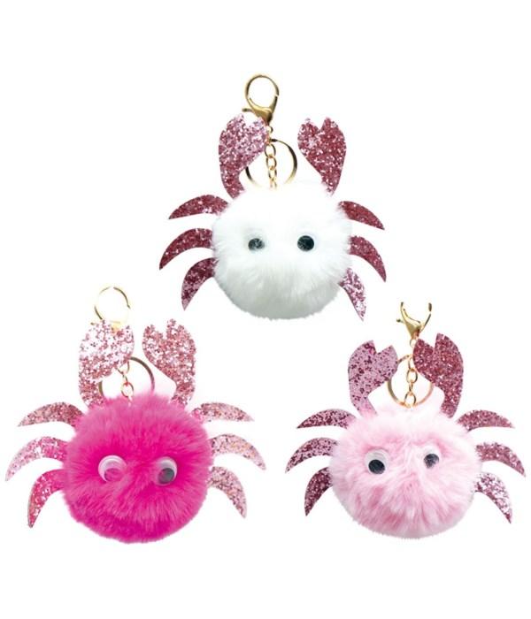 key chain pompom crab 12/300s
