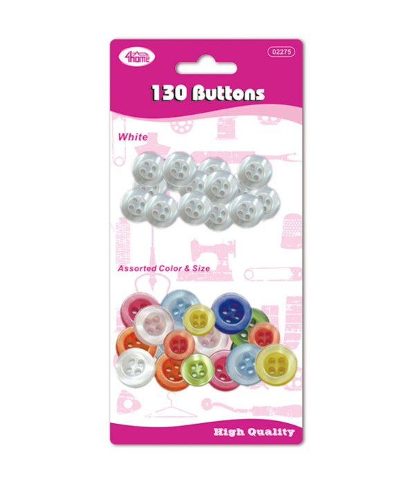buttons wht+clred set 24/192s