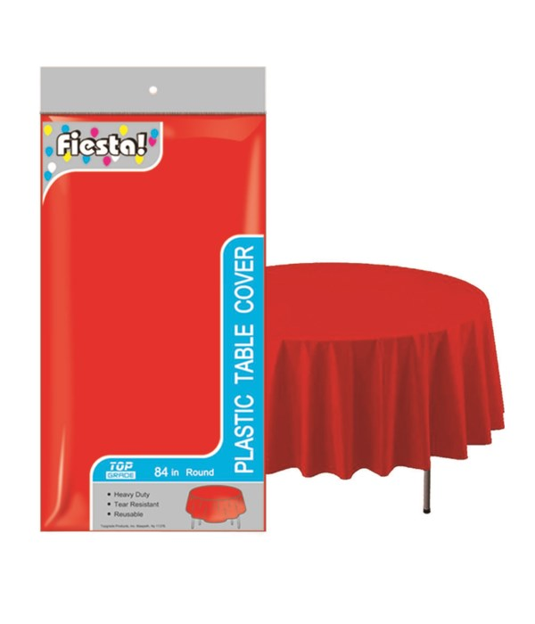 """table cover red 84""""/48s"""