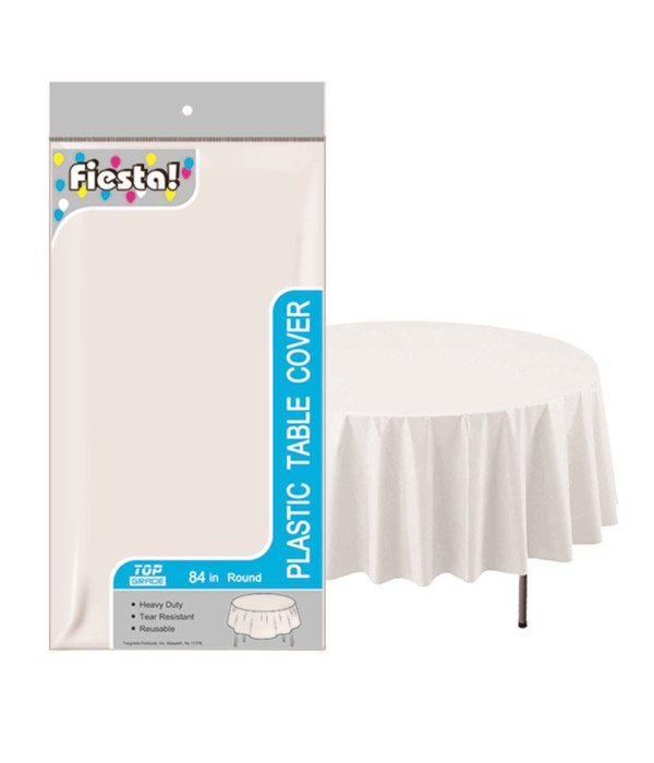 """table cover white 84""""/48s"""