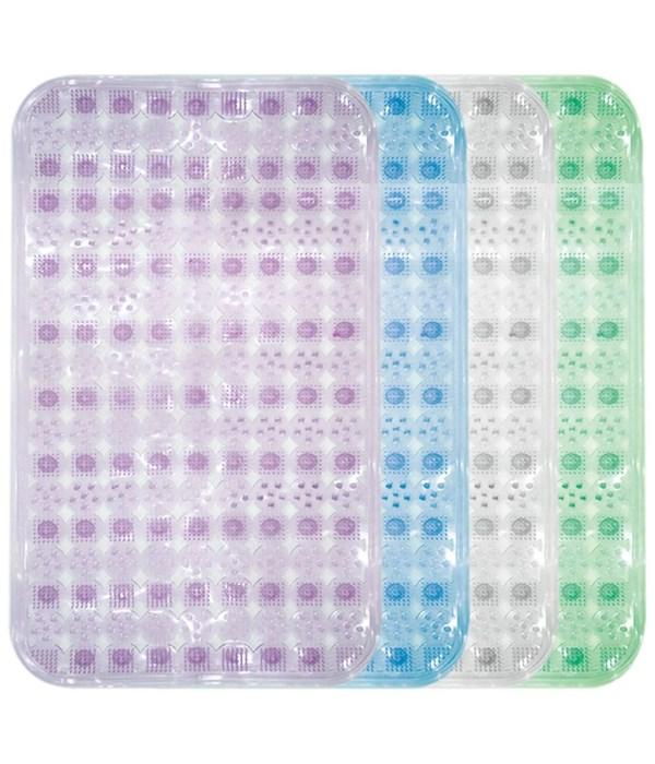 """bath mat astd clr 28x15""""/24s"""