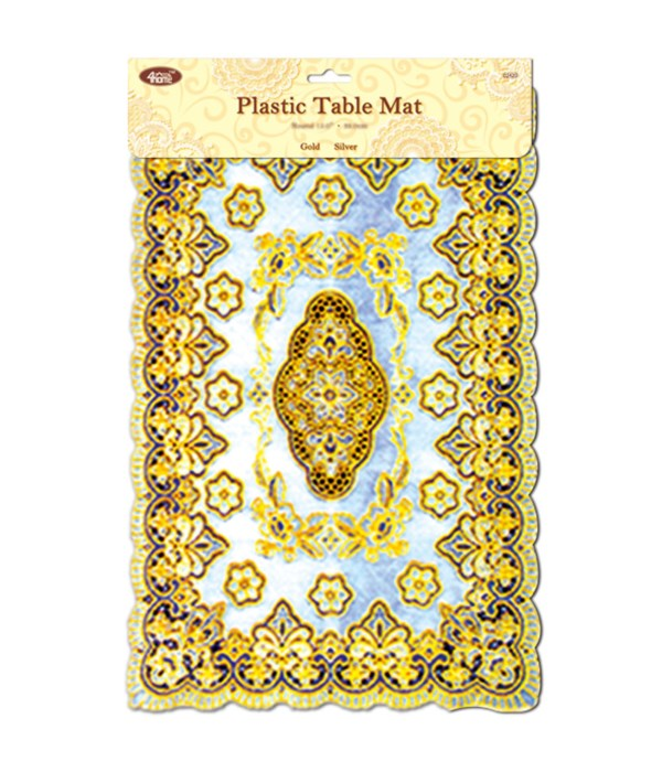 """placemat gold 12x18"""" 12/144s"""