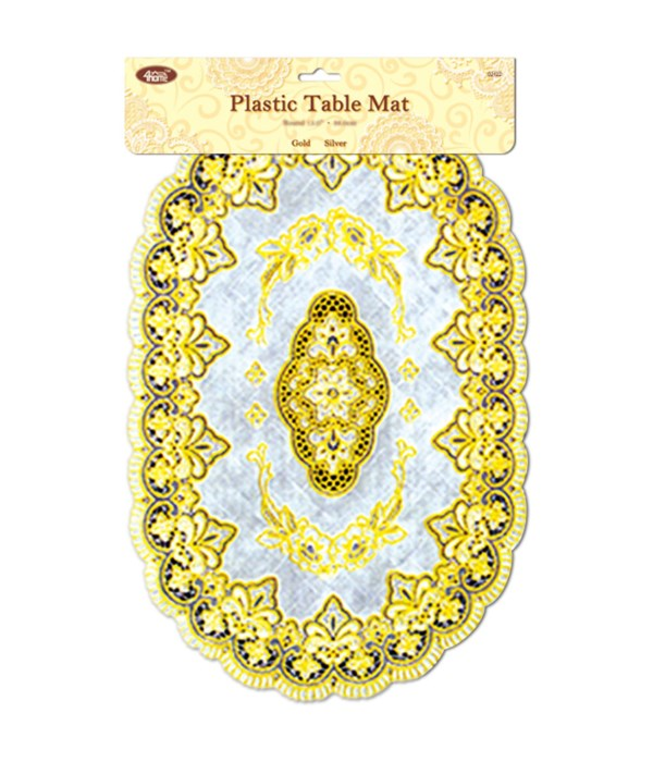 placemat oval gold 12/144s